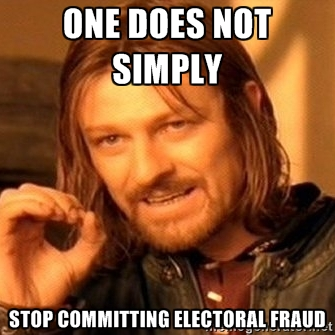 conservatives refuse to stop electoral fraud